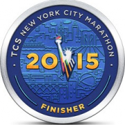 "TCS-NYC finishers medal • <a style=""font-size:0.8em;"" href=""http://www.flickr.com/photos/24030685@N04/22715045255/"" target=""_blank"">View on Flickr</a>"