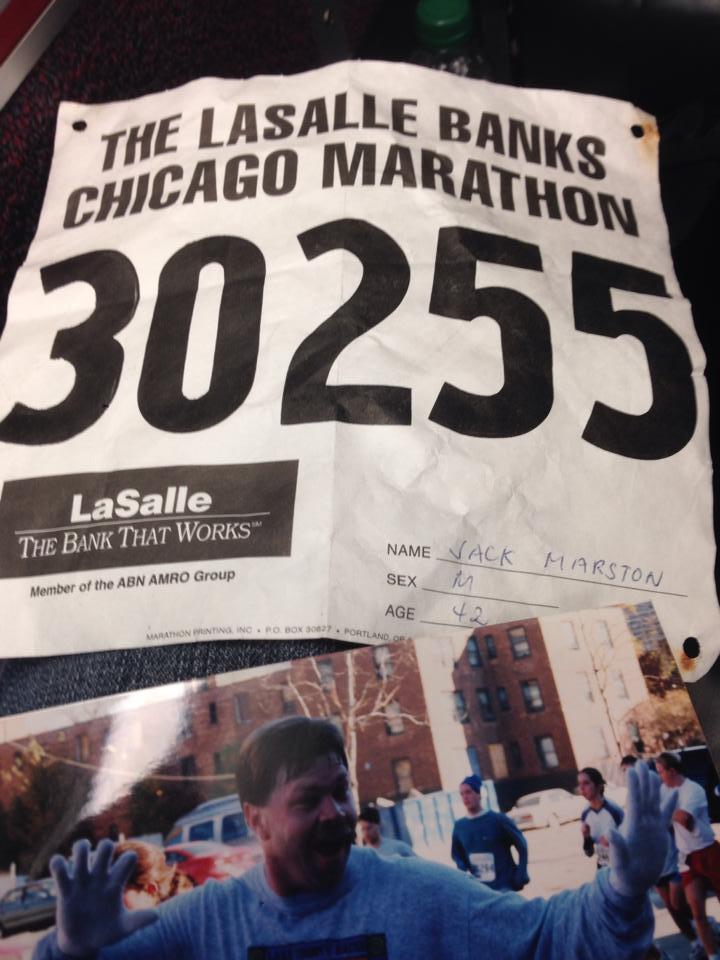 Jack's Marathon bib