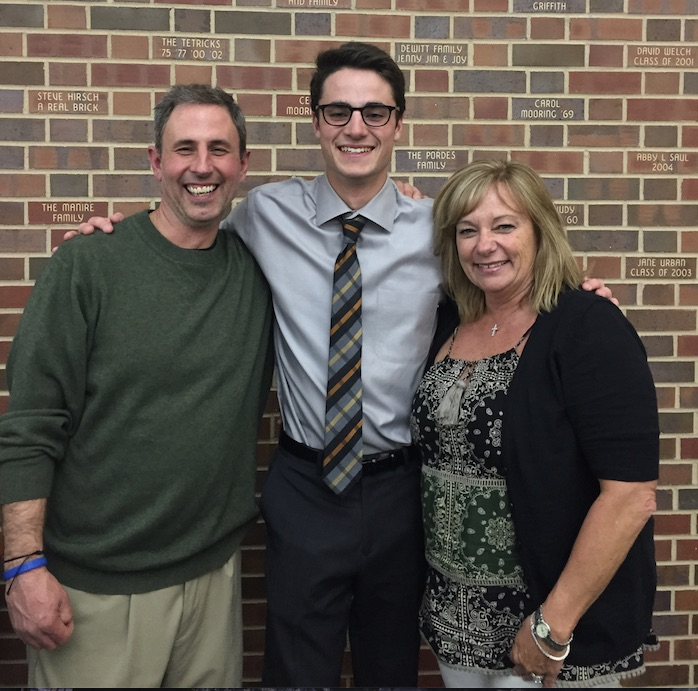 Zach Lutz with parents Kim and Steve